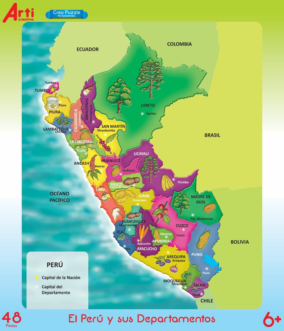 El Perú y sus Departamentos